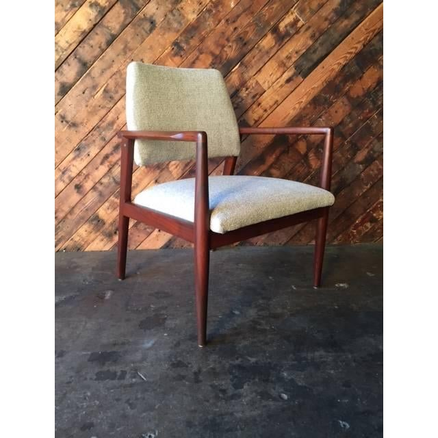 Mid-Century Danish Walnut Sculpted Arm Chair - Image 6 of 9
