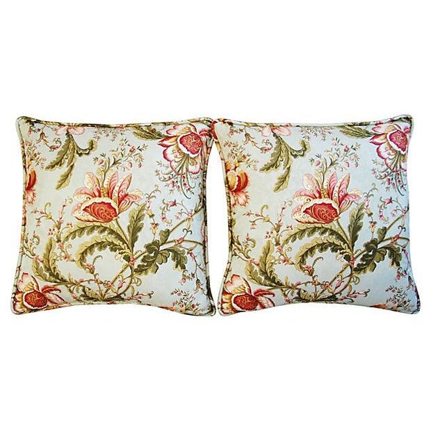 Custom Swavelle Mill Creek Floral Pillows - A Pair - Image 5 of 7