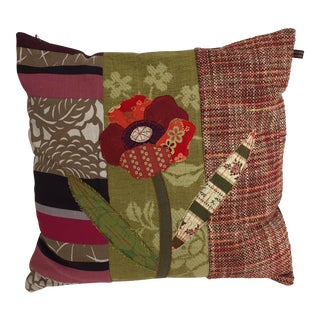 Handmade Patchwork Flower Pillow