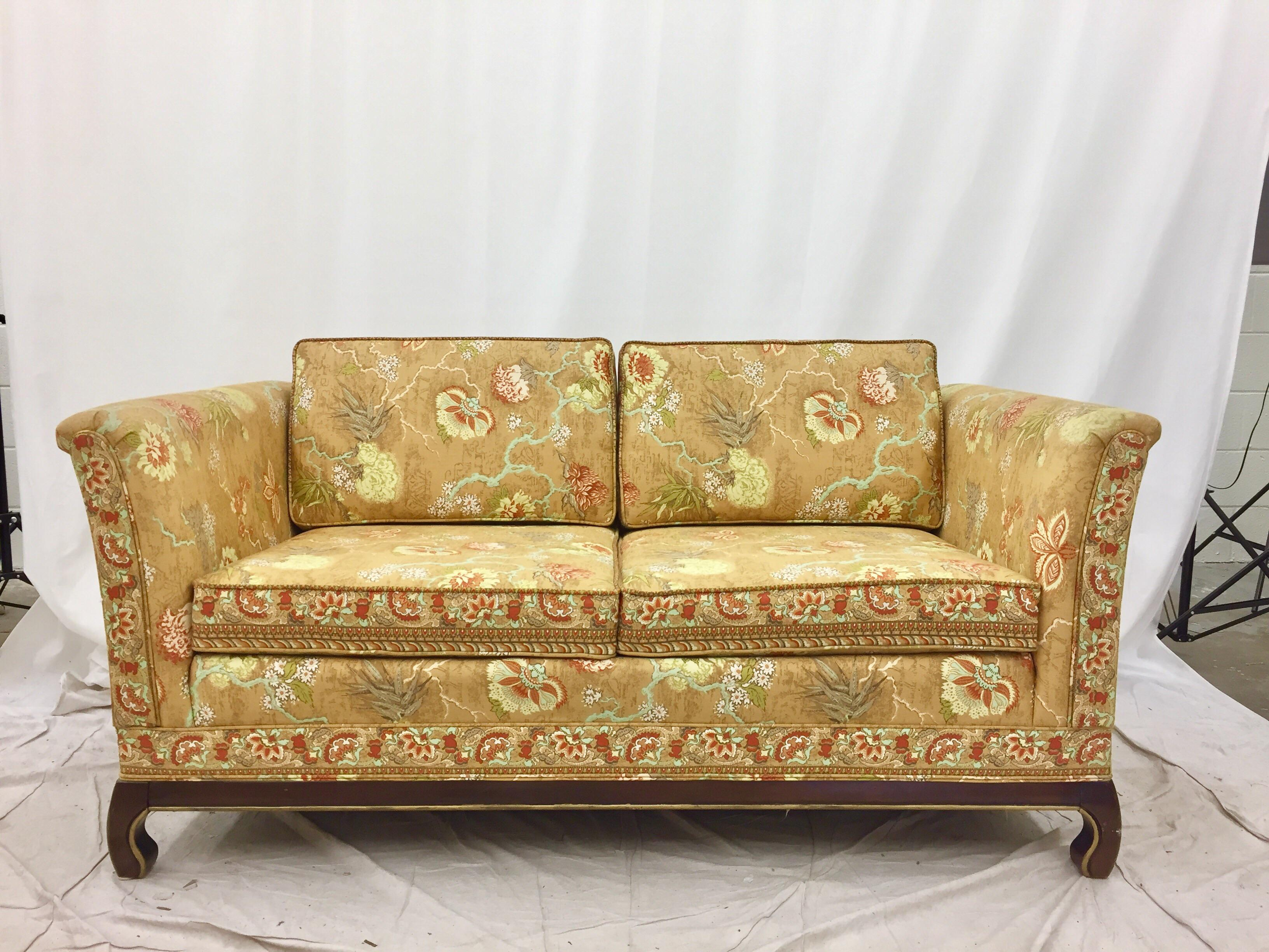 midcentury modern broyhill ming style loveseat image 4 of 10