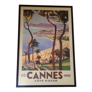 French Cannes Travel Poster