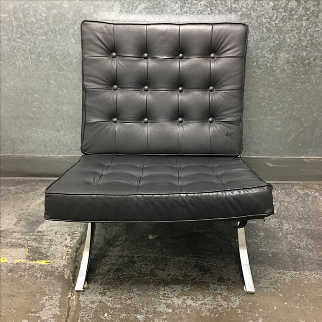Image of Barcelona Black Leather Chair