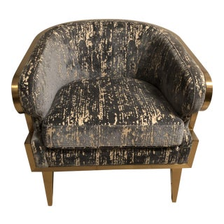 Selamat Designs Gold Trim Club Chair