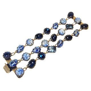 De Luxe Blue Art Glass Bracelet