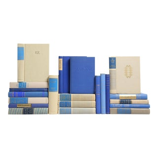 Mid-Century Sand & Sapphire Book Mix - Set of 20