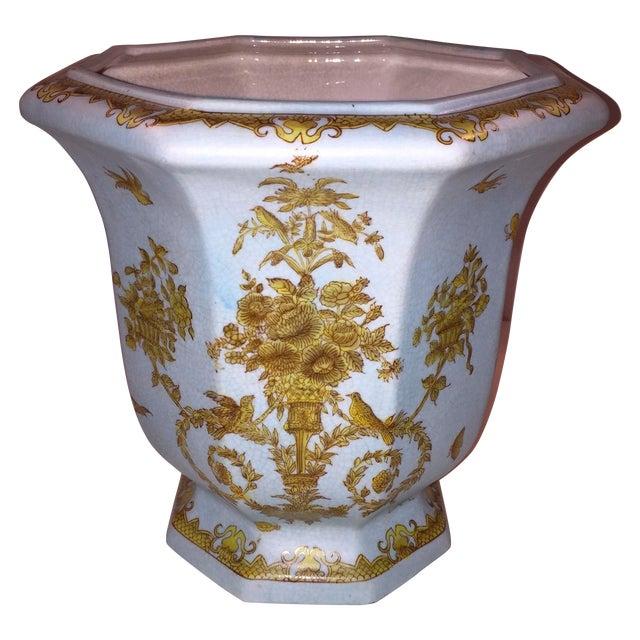 Chinese Octagonal Porcelain Planter - Image 1 of 6