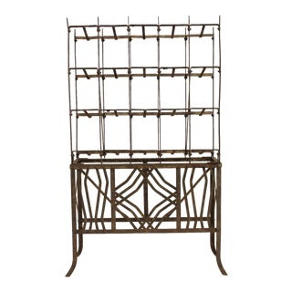 Art Deco Metal Wine Rack