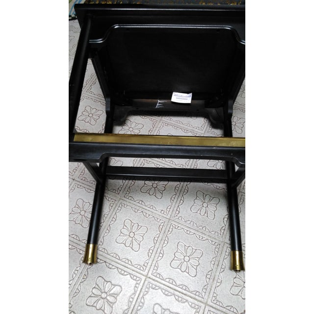 Century Chair Company Hickory Gold & Black Bar Counter Stools - A Pair - Image 7 of 11