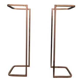 Industrial Metal Table Supports - A Pair