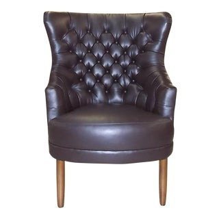 "O'Henry House Tufted Leather ""Lloyd"" Wing Chair"