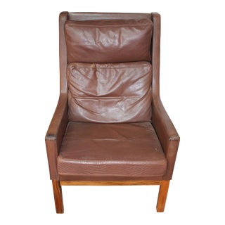 1950s Mid-Century Leather Lounge Chair
