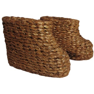 """WWII """"Strohschuhe"""" Hand-Braided Snow Over Boots - a Pair"""