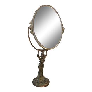 Art Nouveau Figural Mirror