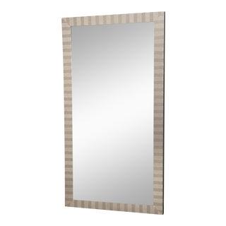 Modern Striped Border Floor Mirror