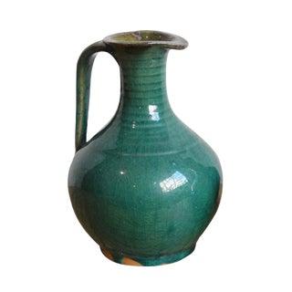 Vintage Teal Ceramic Jug
