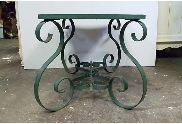 Vintage French Tile Top Coffee Table   Image 8 Of 8