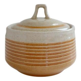 Vintage Japanese Stoneware Sugar Bowl