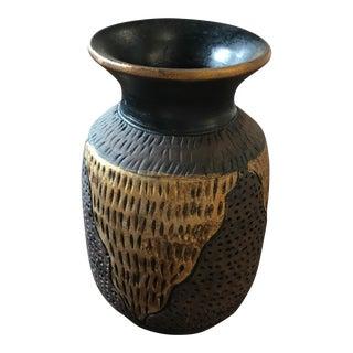 Handmade Metallic & Brown Vase
