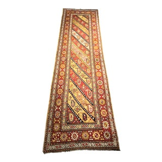 "Bellwether Rugs Antique Gänge Caucasian Runner - 3'5""x12'3"""