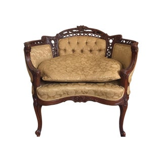 Vintage French Louis XV Style Loveseat or Armchair