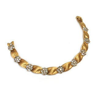 Trifari Goldtone & Rhinestone Bracelet