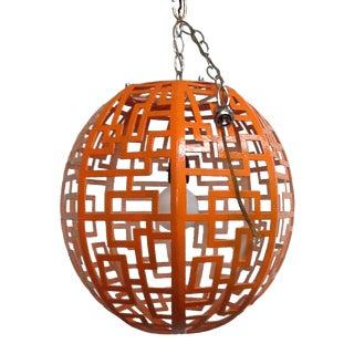 Mid-Century Orange Pendant Light