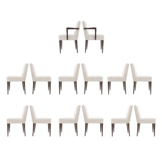 Set of 14 Edward Wormley Dining Chairs for Dunbar