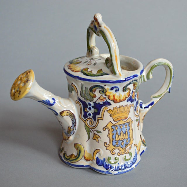 French Handpainted Watering Can - Image 2 of 5