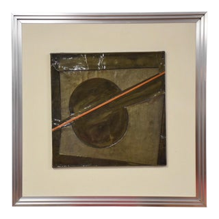 3D Tin Abstract Signed Art