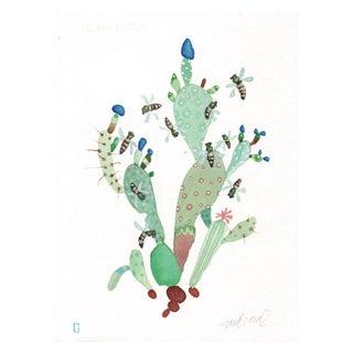 """""""Honey Cactus"""" Original Watercolor"""