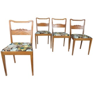 Swedish Floral Dining Chairs - Set of 4