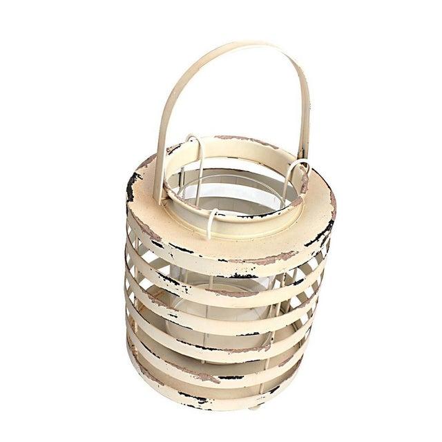 Rustic Metal Lantern Candle Holders - Set of 2 - Image 2 of 3