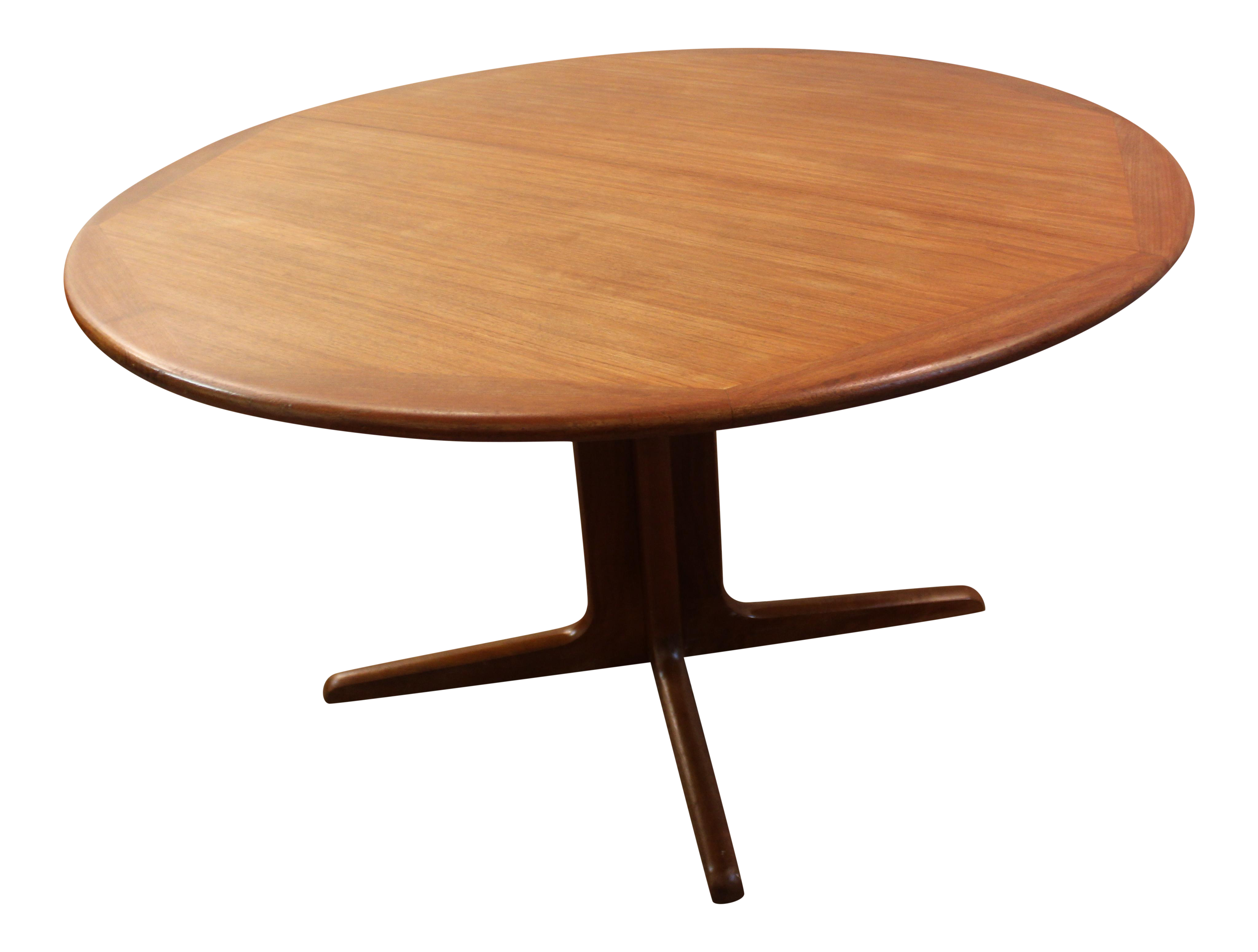 MidCentury Danish Modern Teak Round Dining Table Chairish