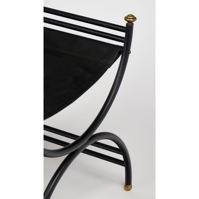 Jacques Adnet Style Armchair with Stool - Image 10 of 11