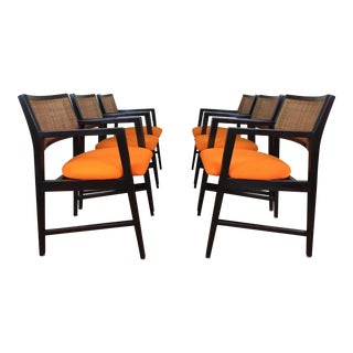 Edward Wormley for Dunbar Dining Arm Chairs - Set of 6