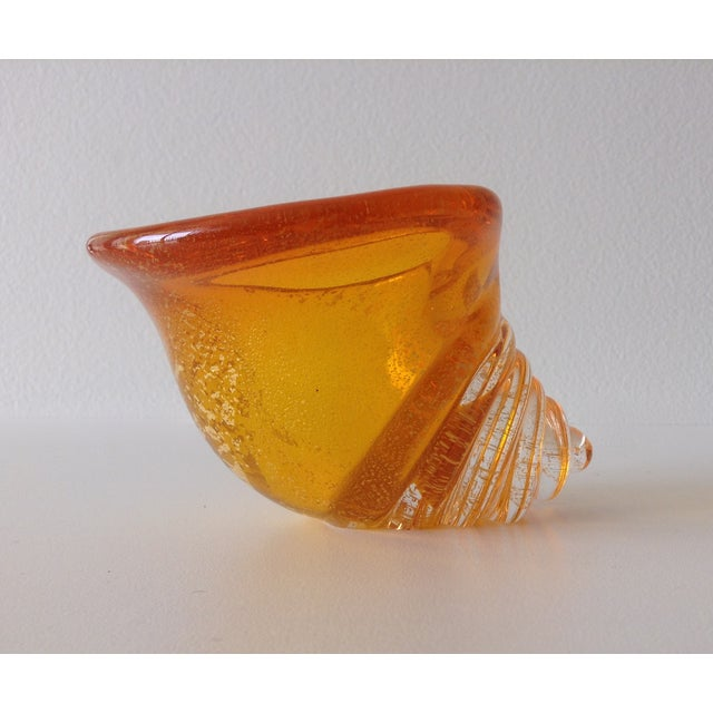 Alfredo Barbini Italian Murano Cognac Shell - Image 6 of 11
