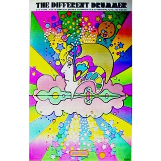 "1968 Peter Max ""The Different Drummer"" Print"