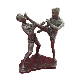 Thai Kick Boxing Muay Sculpture