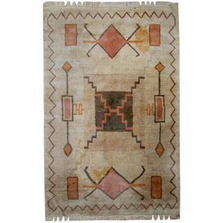 """1960s Vintage Handmade Tibetan Khaden Rug - 5'2"""" x 7'7"""""""