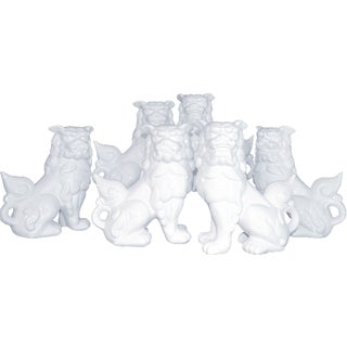Blanc de Chine Foo Dog Pack - Set of 6