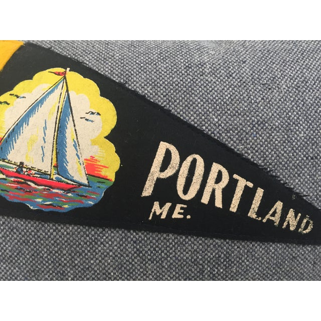 """""""Hit the Road!"""" Vintage Travel Pennant Pillow - Image 4 of 5"""