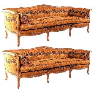 Louis XVI Style Canapés Sofas - A Pair