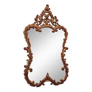 Vintage Gilt Rococo Carved Mirror