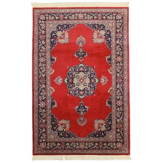 Hand Knotted Wool Chinese Rug - 6' x 9'