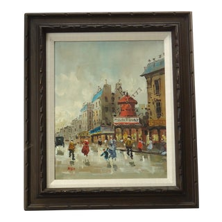 Vintage Moulin Rouge Painting