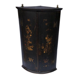 Antique English Chinoiserie Corner Cabinet