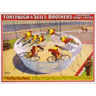 "Late 19th-C. ""7 Wheel Wonders"" Circus Poster"