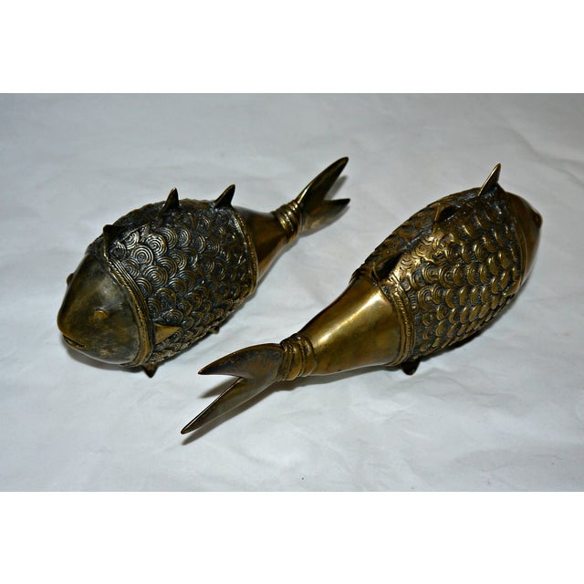 Brass Dokra Indian Fish - A Pair - Image 8 of 8