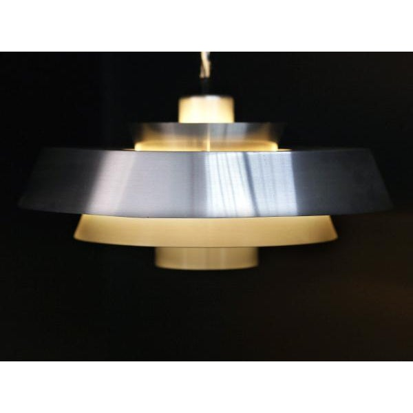 Danish Aluminum Pendent Lamp by Jo Hammerborg, Pair - Image 4 of 8