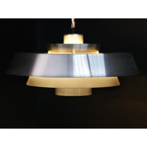 Image of Danish Aluminum Pendent Lamp by Jo Hammerborg, Pair